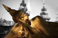 Reclining Buddha statue. Royalty Free Stock Images