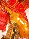 Reclining Buddha Statue in Aungthong Royalty Free Stock Image