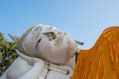 Reclining Buddha statue face Royalty Free Stock Photo