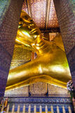 Reclining Buddha statue in temple Royalty Free Stock Photography