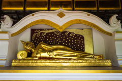 Reclining Buddha statue in a temple Royalty Free Stock Photo