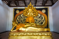 Reclining Buddha statue in a temple. In Chiang mai , Thailand Stock Image