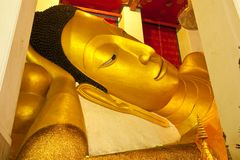 Reclining Buddha statue in Thailand Royalty Free Stock Image