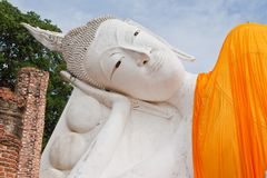 Reclining Buddha statue in Thailand Royalty Free Stock Photos