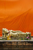 Reclining buddha statue in thailand Royalty Free Stock Photo