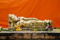 Reclining buddha statue in thailand Royalty Free Stock Photography