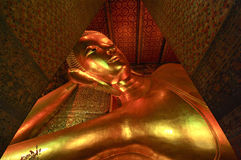 Reclining Buddha statue in Thailand Stock Photos