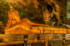 Reclining Buddha suwankuha temple Phuket thailand Royalty Free Stock Photography