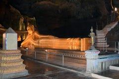 Reclining Buddha in Suwankuha temple Stock Photography