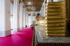 Reclining Buddha in Temple Stock Images