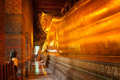 Reclining Buddha, Thailand royalty free stock photography