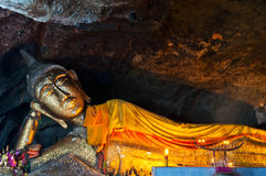 Reclining Buddha in  Thailand Stock Image