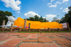 Reclining Buddha in thailand. Reclining Buddha is respect for people in thailand Stock Photography