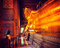 Reclining Buddha, Thailand Stock Photos