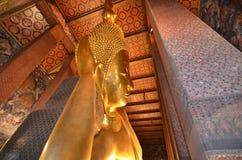 Reclining Buddha .Thailand. Reclining Buddha in Wat Pho , Bangkok stock images
