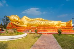 Reclining Buddha in Vientiane, Laos Royalty Free Stock Image