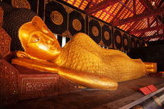 Reclining Buddha, Wat Chedi Luang, Chiang Mai Royalty Free Stock Images