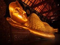 Reclining Buddha, Wat Chedi Luang, Chiang Mai Stock Photo