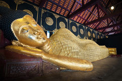Reclining Buddha at Wat Chedi Luang in Chiang Mai, Thailand Royalty Free Stock Photos