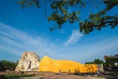 Reclining Buddha of Wat Lokaya Sutha in Ayutthaya, Thailand Stock Photos