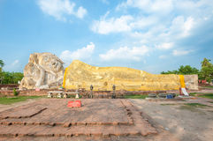 Reclining Buddha at Wat Lokayasutharam in Ayutthaya, Thailand Stock Images