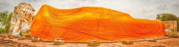 Reclining Buddha in Wat Lokayasutharam Royalty Free Stock Images