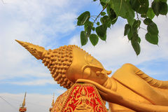 Reclining Buddha at Wat That Luang South,Vientiane,Laos. The area to the south of Pha That Luang  is Wat That Luang South Royalty Free Stock Image