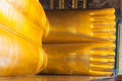 Reclining Buddha in Wat Pho Stock Images