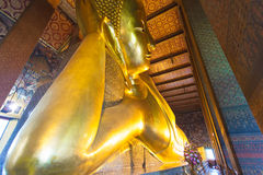 Reclining Buddha in Wat Pho Stock Photos