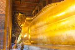 Reclining Buddha in Wat Pho Stock Photography