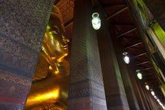 Reclining buddha Wat Pho in Bangkok Thailand. Royalty Free Stock Image