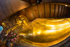 Reclining Buddha at Wat Pho Royalty Free Stock Photography