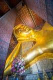 Reclining Buddha at Wat Pho, Bangkok, Thailand. The head of Big golden Reclining Buddha within Wat Pho,Bangkok,Thailand Stock Photo