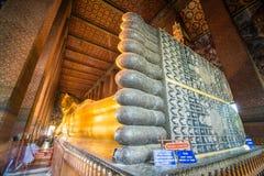 Reclining Buddha at Wat Pho, Bangkok, Thailand. The head of Big golden Reclining Buddha within Wat Pho,Bangkok,Thailand Royalty Free Stock Photos