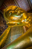 Reclining buddha, Wat Pho, Bangkok, Thailand Royalty Free Stock Photo