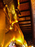 Reclining buddha within the Wat Pho Stock Images