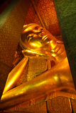 Reclining buddha at Wat Pho Stock Image