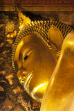 Reclining Buddha of Wat Pho, Landmark and No. 1 tourist attractions in Thailand. Royalty Free Stock Photos