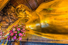 Reclining buddha Wat Pho temple bangkok Thailand Royalty Free Stock Images