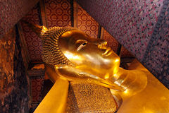 The Reclining Buddha of Wat Pho 2 Royalty Free Stock Image