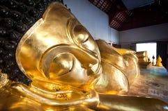 Reclining Buddha at Wat Phra Singh, Chiang Mai, Thailand Royalty Free Stock Image