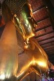 Reclining buddha Wat Po bangkok  thailand Stock Photos