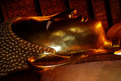 Reclining Buddha, Wat Po Temple, Bangkok, Thailand Royalty Free Stock Photo
