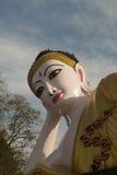 Reclining Buddha in watprathatsuthone Phrae province of Thailand Stock Photo