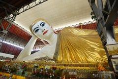 Reclining buddha yangon Royalty Free Stock Images