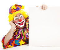 Reclining Clown Royalty Free Stock Image