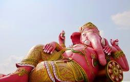 Reclining elephant head god at Wat Samarn Rattanar Stock Photos