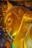 reclining för buddha bild Arkivbilder