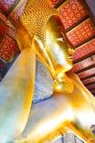 reclining för buddha framsida Arkivbilder