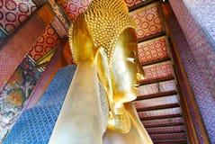 reclining för buddha framsida Arkivfoton
